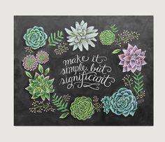 Succulent Wall Art - Spring Decor - Spring Art - Spring Print - Chalk Art - Succulent Print- Succulent Illustration von LilyandVal auf Etsy https://www.etsy.com/de/listing/225206540/succulent-wall-art-spring-decor-spring