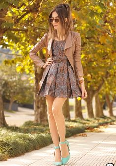 paisley-dress-with-leather-jacket