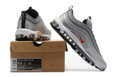 newest 6d427 7ba9d Air Maxs Nike Cheap Nike Air Max 97 OG QS Silver Grey Red Black
