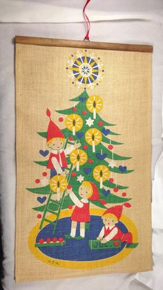 Jerry Roupe Swedish Christmas Wall Hanging Elfs by SimplyAgain