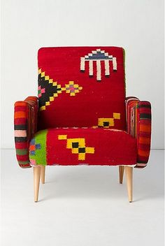 chairs upholstered in mexican blankets | furniture covered Mexican blanket