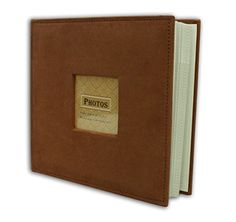 """Golden State Art Photo Album, Holds 200 4""""x6"""" pictures, 2 per page, Suede Cover, Rusty Bronze *** Check out the image by visiting the link."""