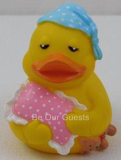 Rubber Duck Bath Tub Toy Sleepy Sleeping Ducky   eBay