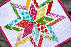 Lone Starburst Mini Quilt by canoeridgecreations, via Flickr