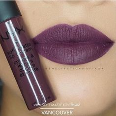 """This perfect plum is the first Canadian addition to our Soft Matte Lip Cream range VANCOUVER is now available on nyxcosmetics.ca and in our free-standing stores // Ce """"bordeaux"""" parfait est la première nuance Canadienne dans notre collection Soft Matte Lip Cream VANCOUVER est maintenant disponible chez nyxcosmetics.ca   CC: @thelipstickmafiaaa #nyxcosmetics #nyx #softmattelipcream #vancouver"""