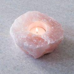 Rose Quartz Tea Light Holder - Stocking Fillers - Gifts By Price - Christmas
