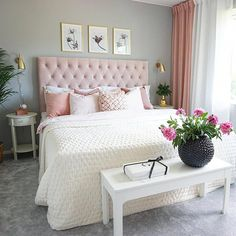 A colorful modern space for a stylish couple البيت in 2019 bedroom decor, c Cute Bedroom Ideas, Cute Room Decor, Room Ideas Bedroom, Simple Bedroom Design, Diy Home Decor Bedroom, Aesthetic Bedroom, Room Inspiration, Stylish Couple, Decorative Items