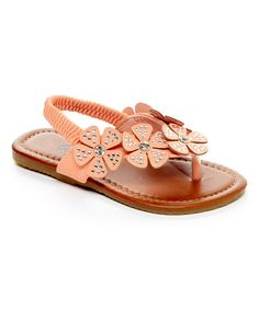 Another great find on #zulily! Coral Flower Fairy Slingback Sandal by QQ Girl #zulilyfinds