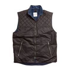 DRIZA-BONE, QUILTED VEST - BROWN
