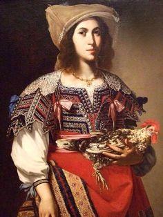 Massimo Stanzione Ritratto di una donna napoletana in costume popolare (1635)