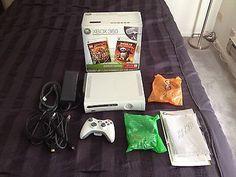 Microsoft Xbox 360 Pro 60 GB White Console (NTSC), HDMI Cable, Two Games