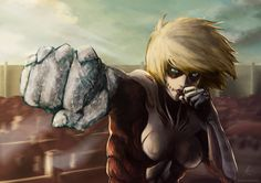 DeviantArt: More Like Shingeki No Kyojin: Eren vs. Mystery Lady Titan xD by Arc-Ecclesia Attack On Titan Hoodie, Attack On Titan Season, Attack On Titan Eren, Mikasa, Armin, Titan Armor, Hatsune Miku, Snk Annie, Titan Shifter