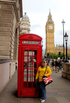 Find a red British telephone booth...:)