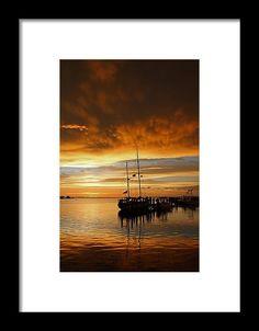 pineland, florida, sunset, silhouette, boat, landscape, michiale schneider photography, interior design, framed art, wall art