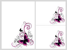 Free printable blank invitations templates wedding invite template pretty pink black butterflies blank invitation templates stopboris Images