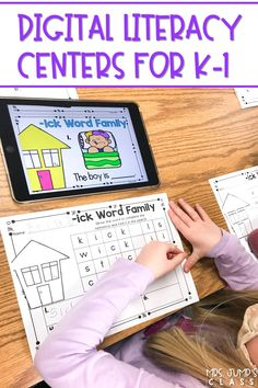 ELA digital centers for kindergarten and 1st grade. These non-thematic activities can be used throughout the entire year! You will love the variety of activities to easily differentiate within your classroom.