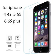 >> Click to Buy << Tempered Glass Film for iPhone 5 5s 7 Plus 9H Hard 2.5D Screen Protector for iPhone 6 6s 6 Plus 4 4S LCD with Clean Tools #Affiliate