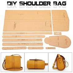 LEATHER CRAFT CLEAR Acrylic Shoulder Bag Handbag Pattern Stencil Template DIY - $22.59 | PicClick