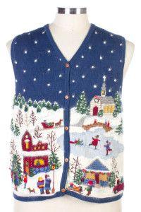 Blue Ugly Christmas Vest 26425