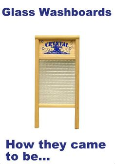 Red Hill General Store: Why are there glass washboards?
