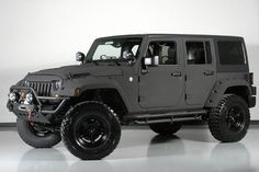 custom matte black jeep wrangler 8 derick g toys pinterest matte black black jeep and. Black Bedroom Furniture Sets. Home Design Ideas