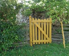 gates in gardens ~ gardens gates . fences and gates backyards cottage gardens . wrought iron fences and gates beautiful gardens Woodworking Guide, Custom Woodworking, Woodworking Projects Plans, Garden Gates, Garden Bridge, Garden Structures, Outdoor Structures, Wrought Iron Fences, Homestead Survival