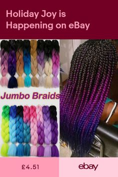 Hair Extensions & Wigs Jumbo Braids 1pack 24 100g Jumbo Braid Pre Stretched Braiding Hair Bulk Kanekalon Purple Ombre Pink Color Full Star Synthetic Hair For Women Suitable For Men And Women Of All Ages In All Seasons