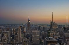 New York City Sunset - Top of the Rock Manhattan NYC