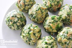 Tiroler Spinatknödel vegan und fructosearm