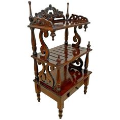 """Gorgeous Very hard to find Hand crafted Petite Victorian Etagere Bookshelf with bottom drawer. 38' Tall X 14' Deep X 20' wide. PLEASE SEE ACTUAL PICTURES!!! Please contact us in advance if you need additional information or pictures on the condition or any special delivery issues. We Can Ship Nation Wide, Receive FREE SHIPPING on your second piece of furniture if similar or smaller size and purchased at same time. Your item is insured to arrive safely! p""""""""""""""""""""Very Good structural condition, Origi Small Bookshelf, Bookcase Storage, Bookshelves, West Coast States, Victorian Life, Console Table, Antique Furniture, Special Delivery, How Are You Feeling"""