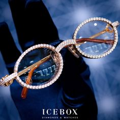 3d4bda7afd341 Customized Diamond Cartier Glasses Shop Now at www.icebox.com