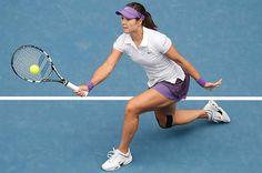 Li Na wearing SpiderTech at the Australian Open