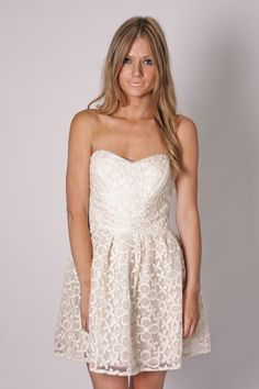 edie lace cocktail dress- ivory