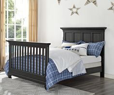 With the addition of the Nashville Knox Wooden Bed Rails you can easily transform your Nashville Knox convertible crib into a full-size bed where your little dreamer can dream big! Learn more about the Nashville Knox collection at: http://www.bertinibaby.com/eng/Collections/Nashville%20Knox