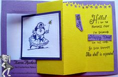 Karen's Kreative Kards: Happy Dust Fun Fold Card on Crackerbox Palace Friday