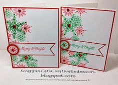 Snowflake Cards Using CTMH Frosted, Inspired by Pinterest.