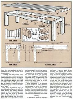 Garden Bench and Table Plans - Outdoor Furniture Plans