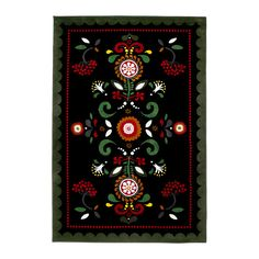 ($39.99)ÅKERKULLA Rug, low pile IKEA Its dense, thick pile creates a soft surface for your feet and also dampens sound. Guest room: green bed