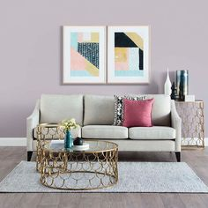 Style to steal for your modern living space with our Australian made Kate sofa styled with our Scallop coffee and side tables. Trending wall colour is Laura by @duluxaus #ozdesignfurniture #abode #interiors #home #styling #metallics #australianmade #homedecor #design #duluxaus #luxe #home #livingspace #homewares #interiordesign #home #L4L #design