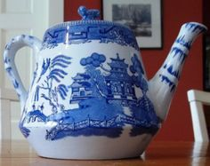 blue willow teapot | Blue Willow Teapot by Ridgways