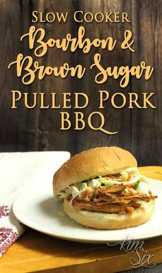 A super easy homemade BBQ sauce recipe, poured over a pork roast in the crock pot resulting in the perfect sweet and spicy pulled pork!