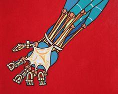 Robot Stress - Acrylic Painting
