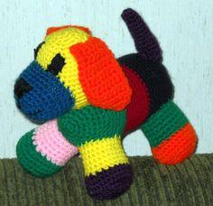 Patchwork puppy, Crochet World,  April 2012