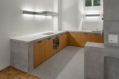 Küche mit Betonabdeckung