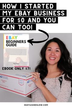 Ready to get started selling on ebay? This ebook will teach you how to sell on ebay for beginners. It has some of my best ebay selling tips for beginners who want to make money selling on ebay. You can totally start a reselling side hustle to make money from home! Make Money From Home, Make Money Online, How To Make Money, How To Get, Ebay Selling Tips, What To Sell, Extra Money, My Ebay, Get Started