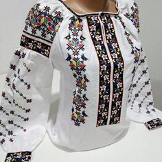 Ukrainian embroidery, embroidered blouse,BIRD, any color, Ukraine Hand Embroidery Dress, Embroidery Fashion, Embroidered Blouse, Folk Fashion, Womens Fashion, Evolution Of Fashion, Sports Hoodies, Dress Images, Blouse Designs