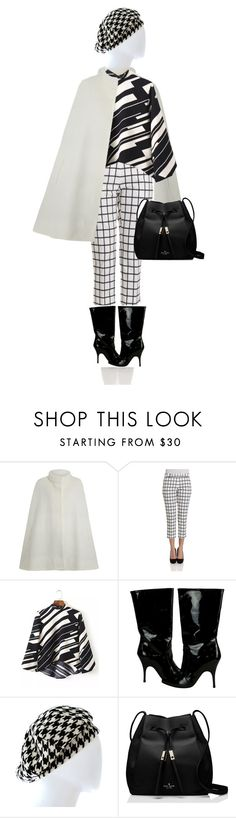 """""""A little bit op-art. Ver.4"""" by kjstylerussia ❤ liked on Polyvore featuring Lanvin, Yohji Yamamoto and Kate Spade"""