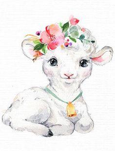 Baby Animal Drawings, Cute Drawings, Watercolor Animals, Watercolor Paintings, Cute Animal Illustration, Diy Canvas Art, Baby Art, Art Plastique, Animal Paintings