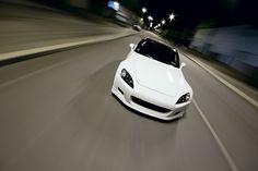white Honda S2000