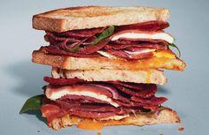 salami breakfast sandwich by Michael Symon